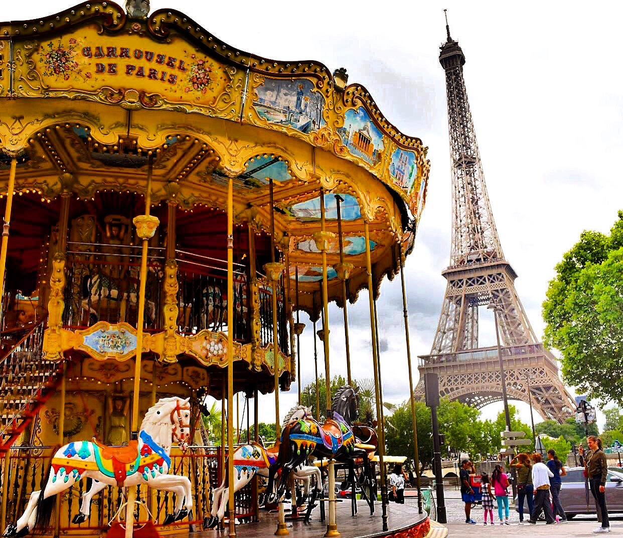 Paris Eiffel Tower merry-go-round