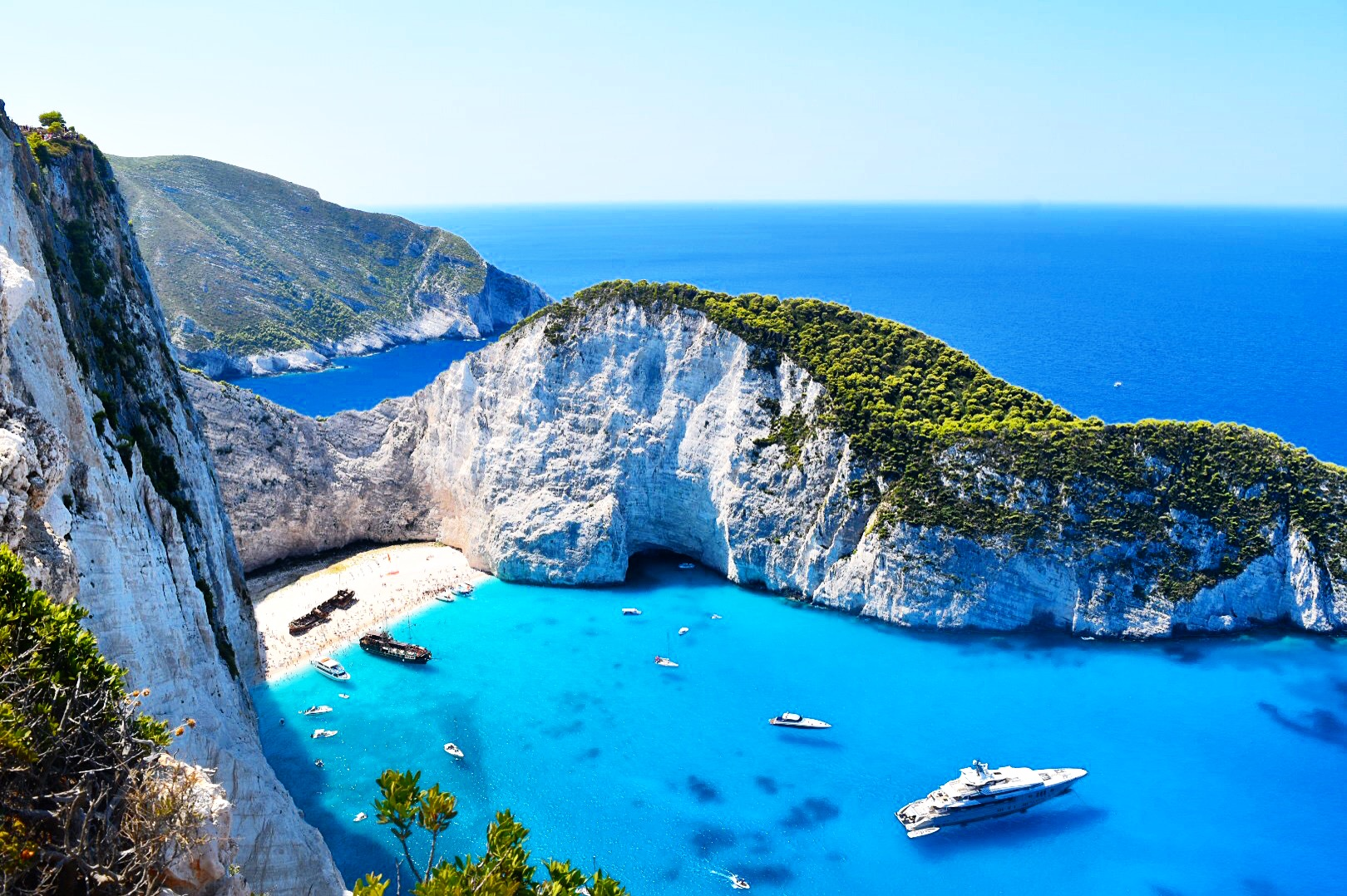 Navagio Beach cliffside