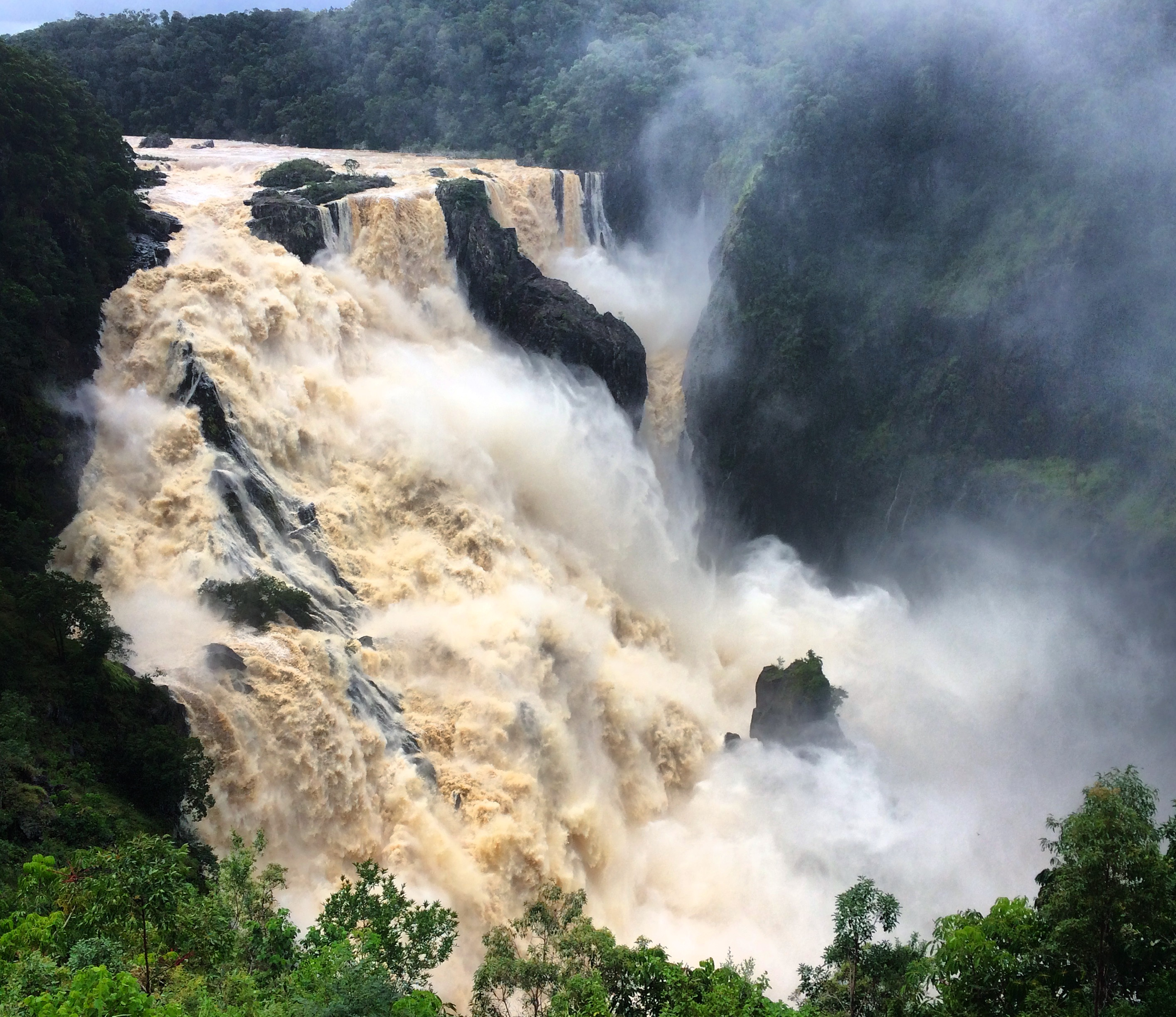 Barron Falls in Flood Sarah Latham