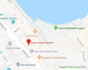 Cairns Night Markets Map