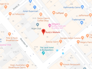 Rustys Market Cairns Map