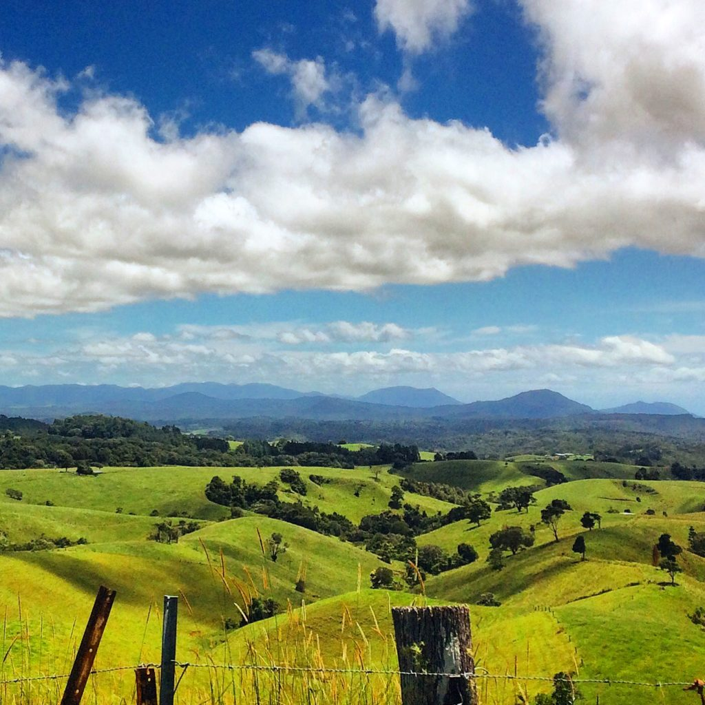 Rolling hills of Atherton Tablelands