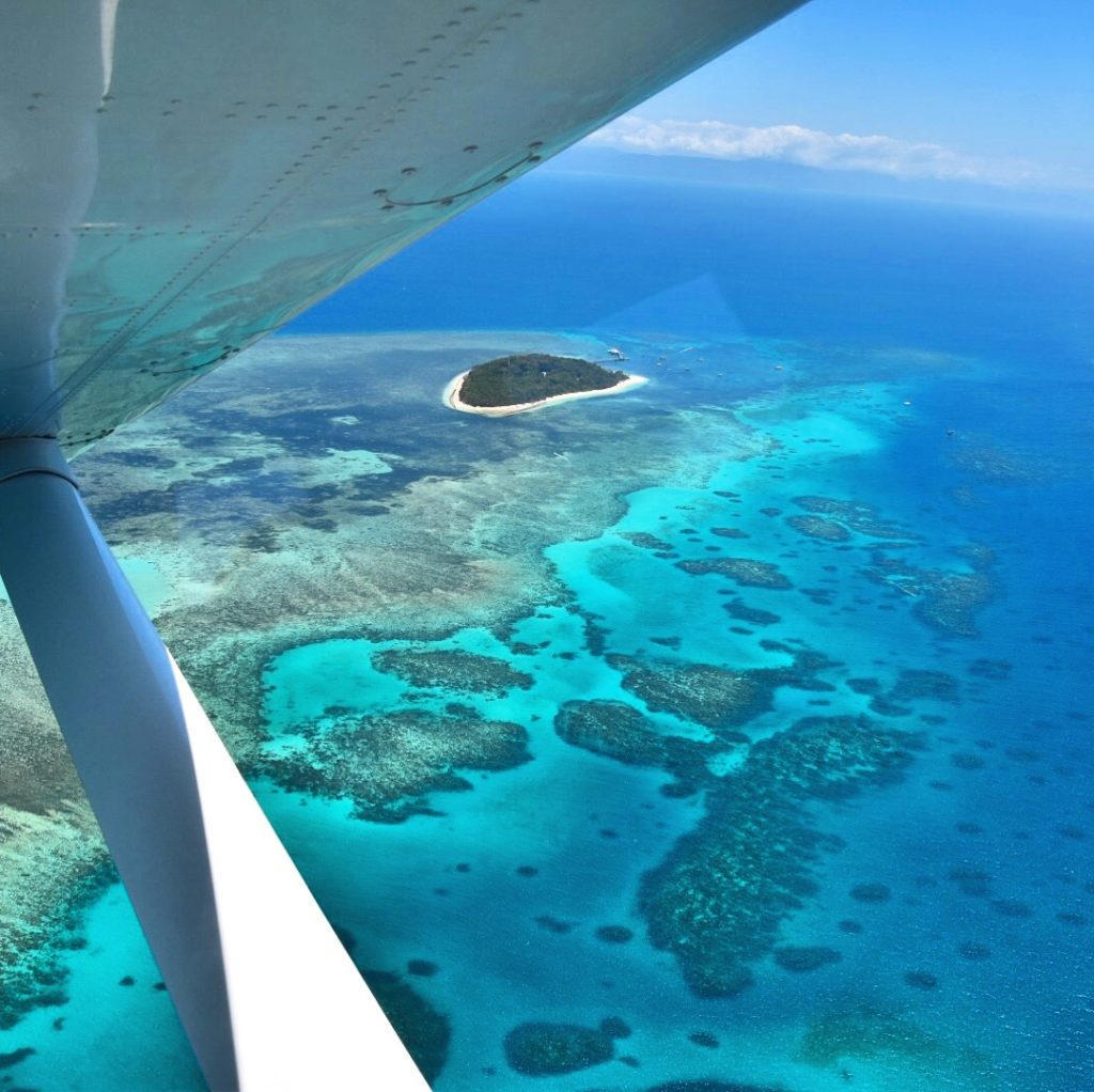 Sarah Latham GSL Aviation Cairns Great Barrier Reef Green Island from small plane