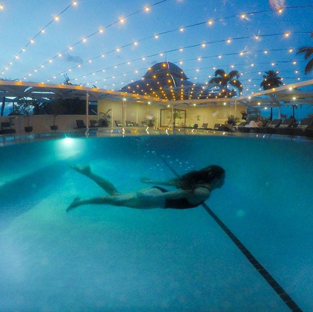 Sarah Latham Pullman Reef Hotel Casino Pool Cairns