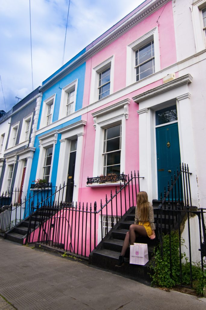 Notting Hill London Pastel Houses Sarah Latham