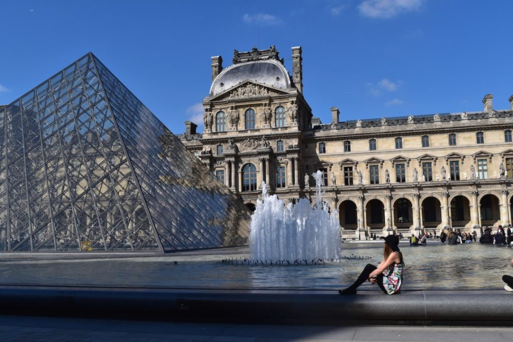 Louvre Pyramids Paris Sarah Latham Europe on a Budget