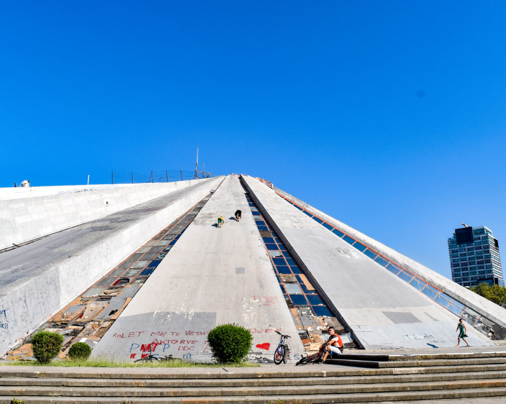 Tirana Albania Sarah Latham The Pyramid of Tirana