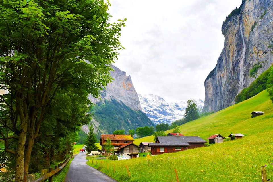 Walking in Lauterbrunnen Switzerland Sarah Latham Europe