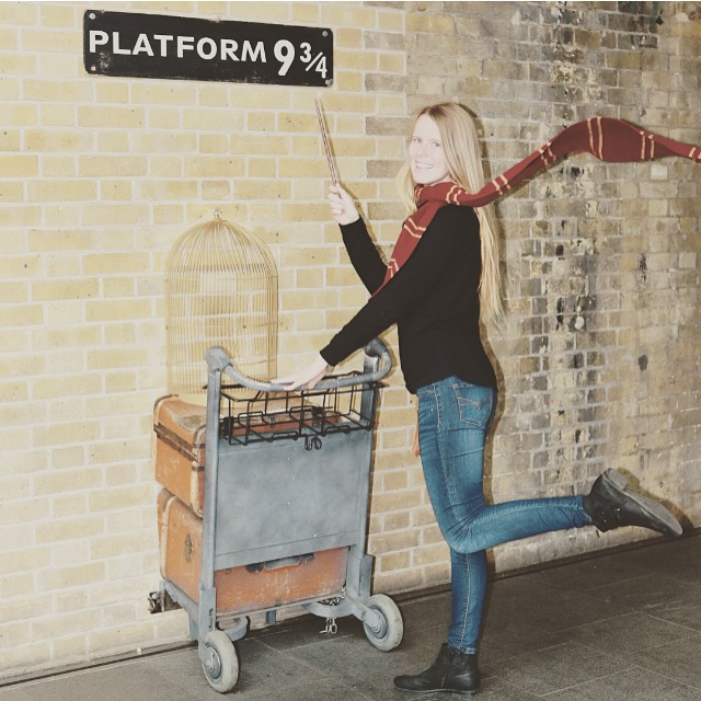King's Cross Station London Harry Potter wall