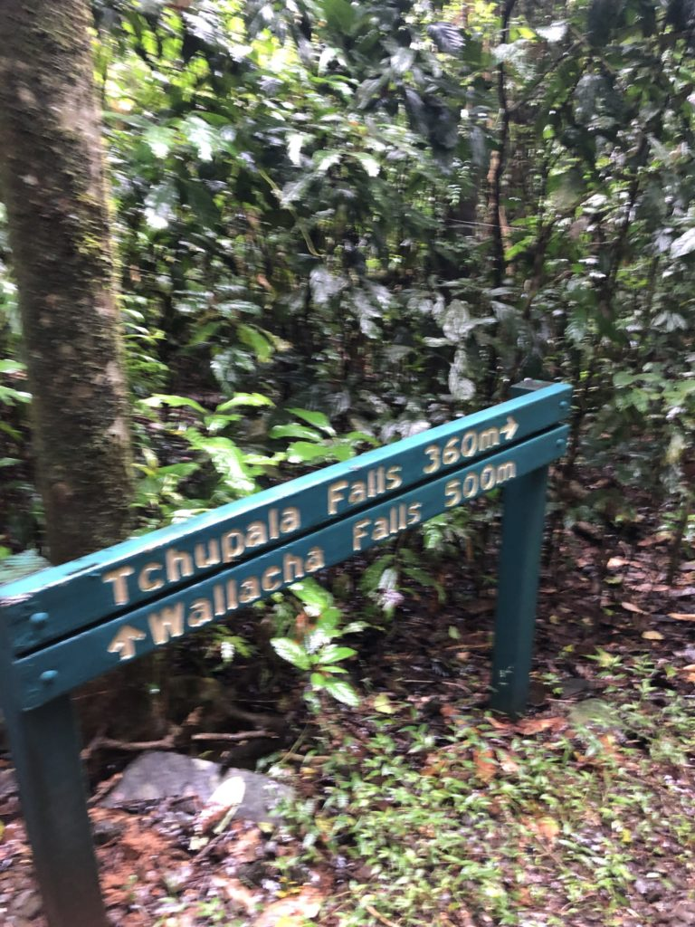 Tchupala and Wallicher Falls sign on track