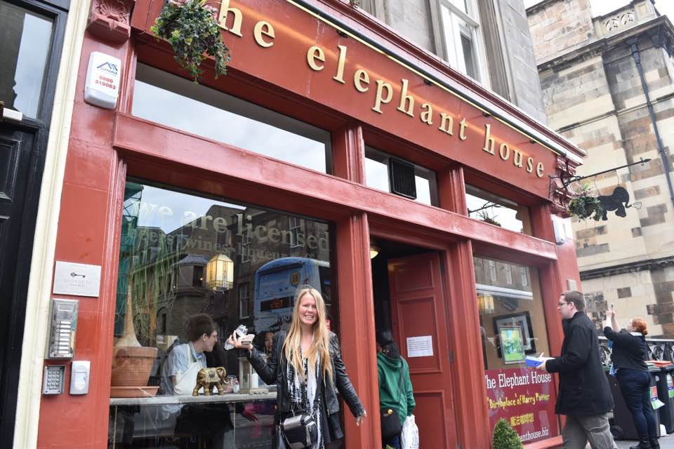 The Elephant House Edinburgh Scotland Harry Potter Locations Sarah Latham