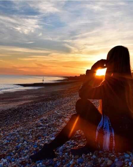 Brighton Beach sunset Sarah Latham