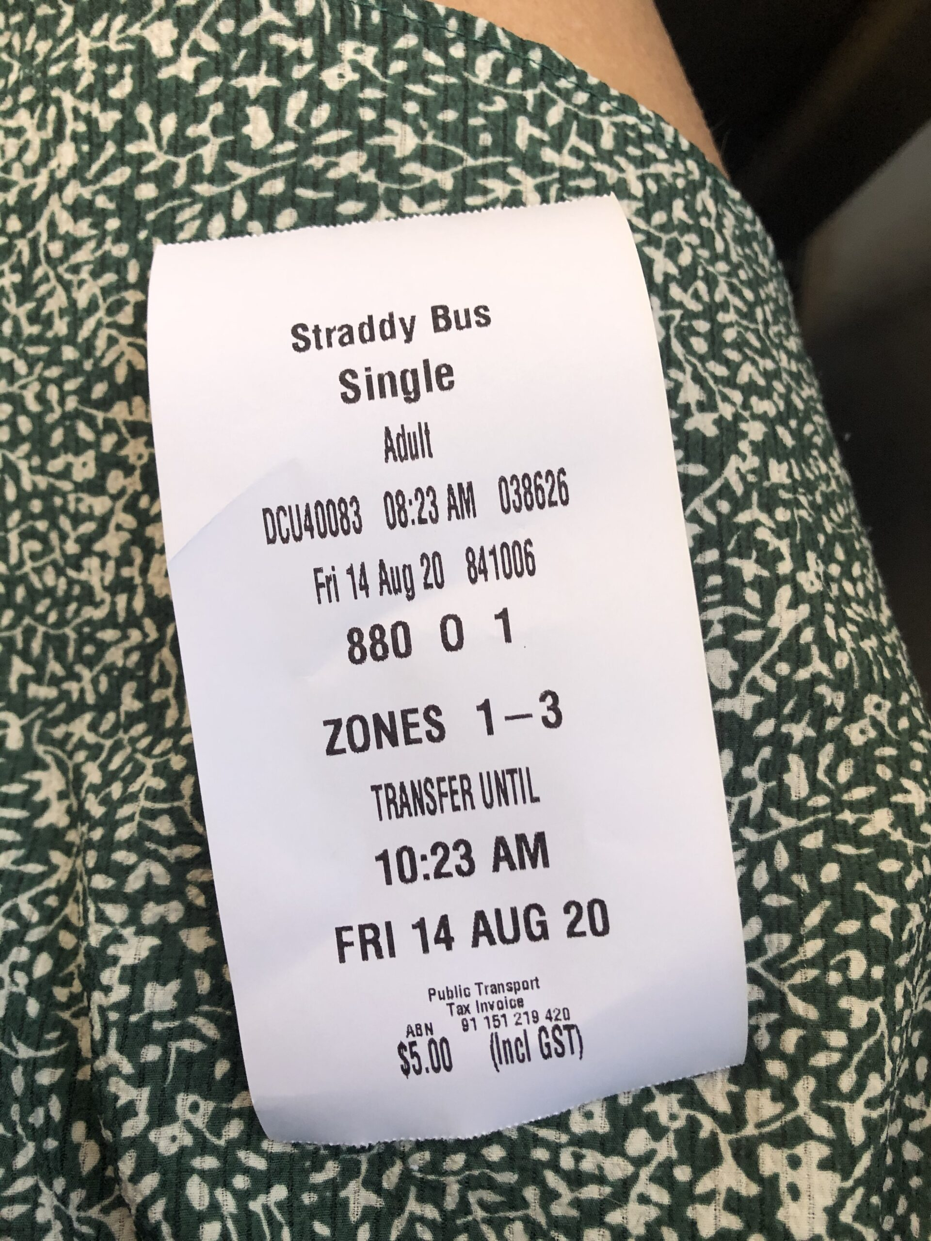 North Stradbroke Island Bus ticket Dunwich to Point Lookout