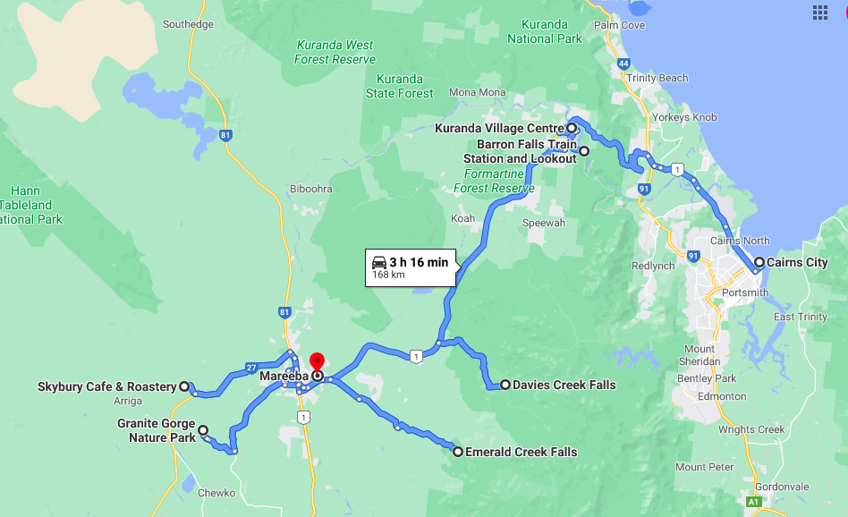 Cairns to Mareeba Road Trip Itinerary