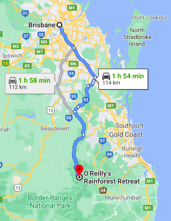 Brisbane to O'Reilly's Rainforest Retreat