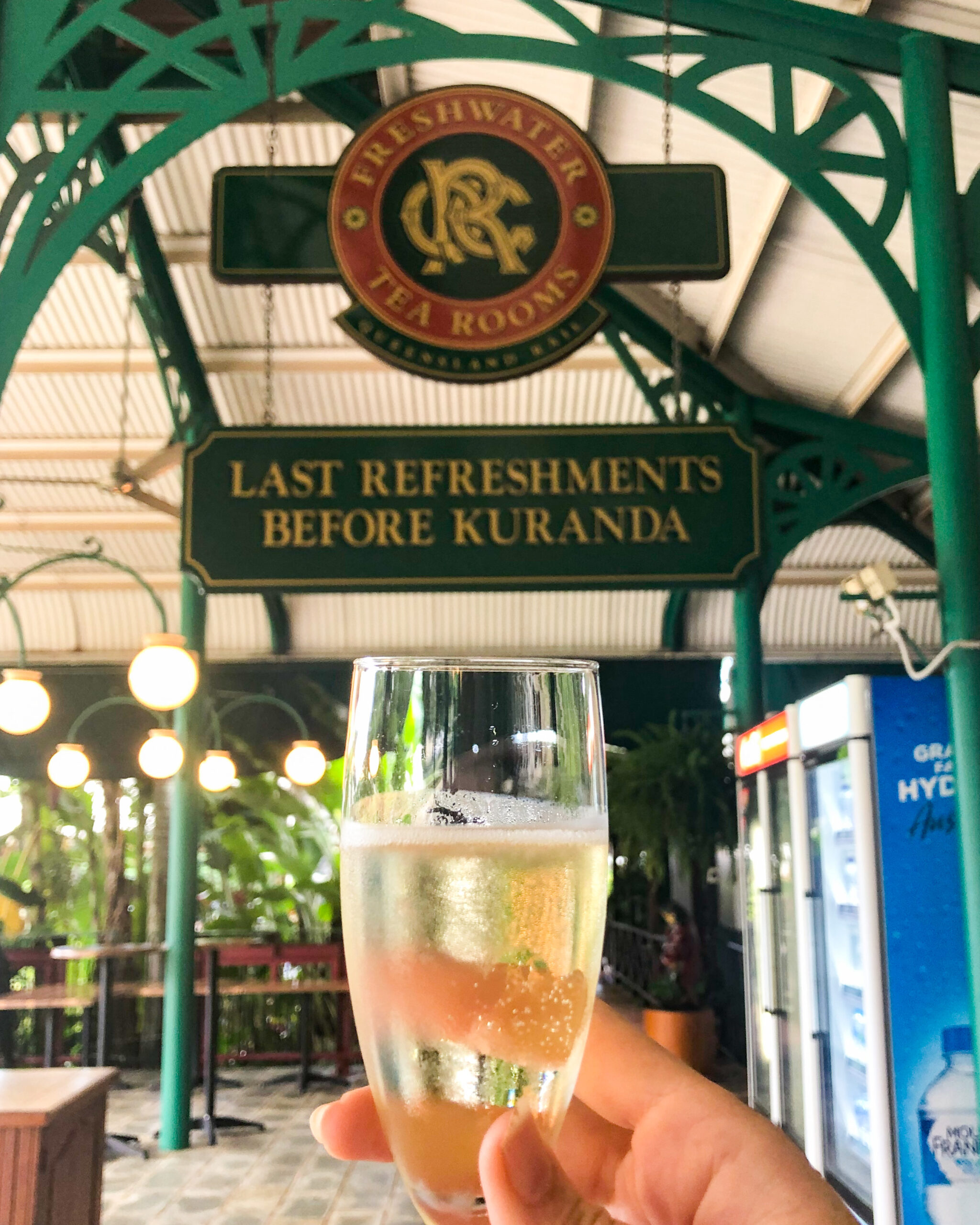 Champagne at Freshwater Railway Station
